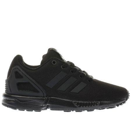 Adidas black zx flux unisex junior