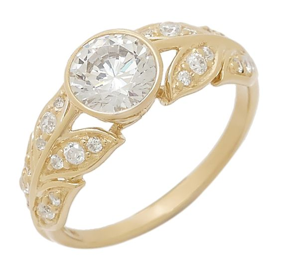 Buy Diamonelle 10K Yellow Gold Ring, Diamonelle and Rings from The Shopping Channel, Canada's home shopping network - Online Shopping for Ca...