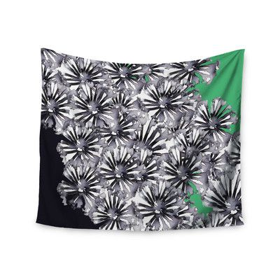 """East Urban Home """"Flowers on Green"""" by Sonal Nathwani Wall Tapestry Size:"""