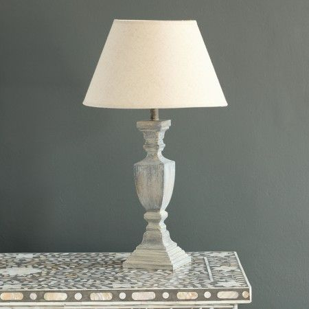 Lamp bases, Lamps and Shades on Pinterest:Grey · Washed lamp base,Lighting