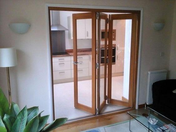Partly Open 6ft Finesse Internal Bifold Doors Door Ideas
