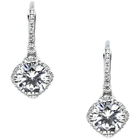 Be-Dazzling Tacori Diamond Earrings found on Polyvore featuring jewelry, earrings, accessories, tacori, diamond earrings, tacori earrings, diamond jewelry and diamond jewellery