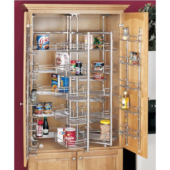 "Kitchen Pantry Cabinet Organization Ideas Plate Rack Shelf: Rev-A-Shelf ""Premiere"" Chef's Roll-Out"