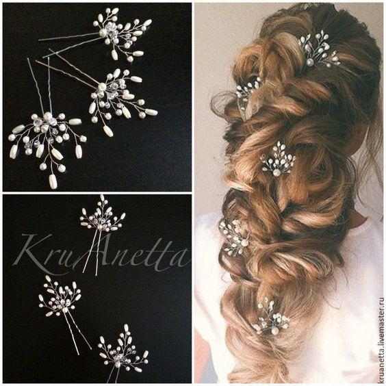 Свадебные шпильки для волос