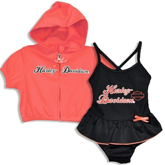 Girls harley davidson outfit