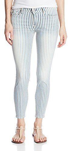 €157, Jean à rayures verticales bleu True Religion. De Amazon.com. Cliquez ici pour plus d'informations: https://lookastic.com/women/shop_items/119879/redirect