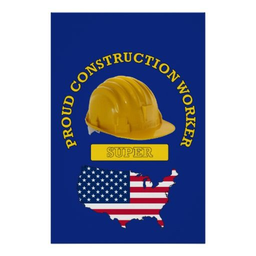 Proud Construction Worker Super Print Gifts