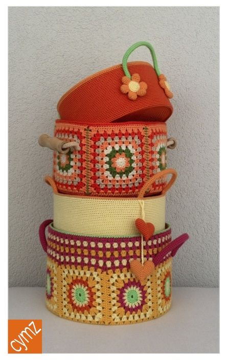 crochet basket , örgü tığ işi sepet ,крючком корзины ,canasta de ganchillo ,crochet panier: