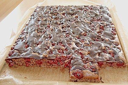 Schneller Blechkuchen Schoko - Kirsch (Rezept mit Bild) | Chefkoch.de