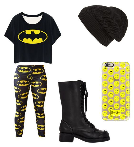 """""""batman inspired"""" by anisa98499 ❤ liked on Polyvore featuring Jil Sander Navy, Phase 3 and Casetify"""