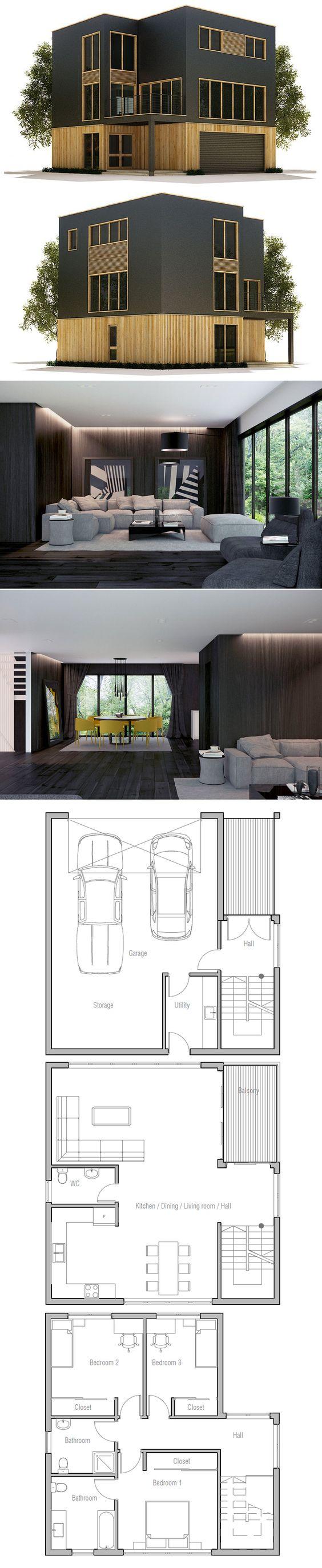 Plans de maisons modernes, maisons modernes and plans de maison on ...