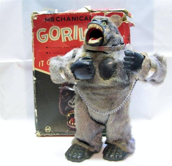 Vintage LOUIS MARX MIGHTY KING KONG MECHANICAL GORILLA c.1960's Near Mint: