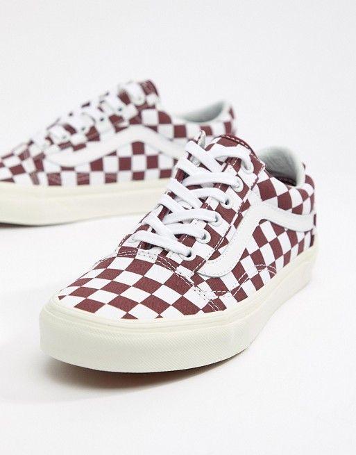 Vans Burgundy Checkerboard Old Skool