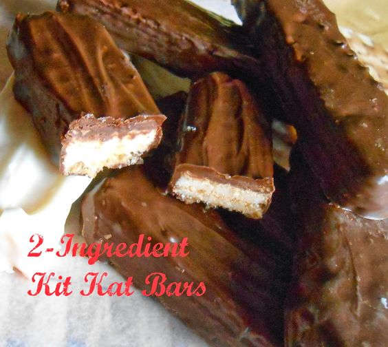 The Better Baker: 2 Ingredient Kit Kat Bars