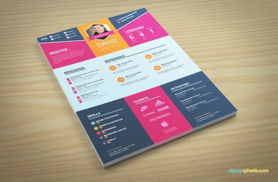 Colorful Stylish Resume and Cover Letter Templates u2013 3 color sets - colorful resume templates