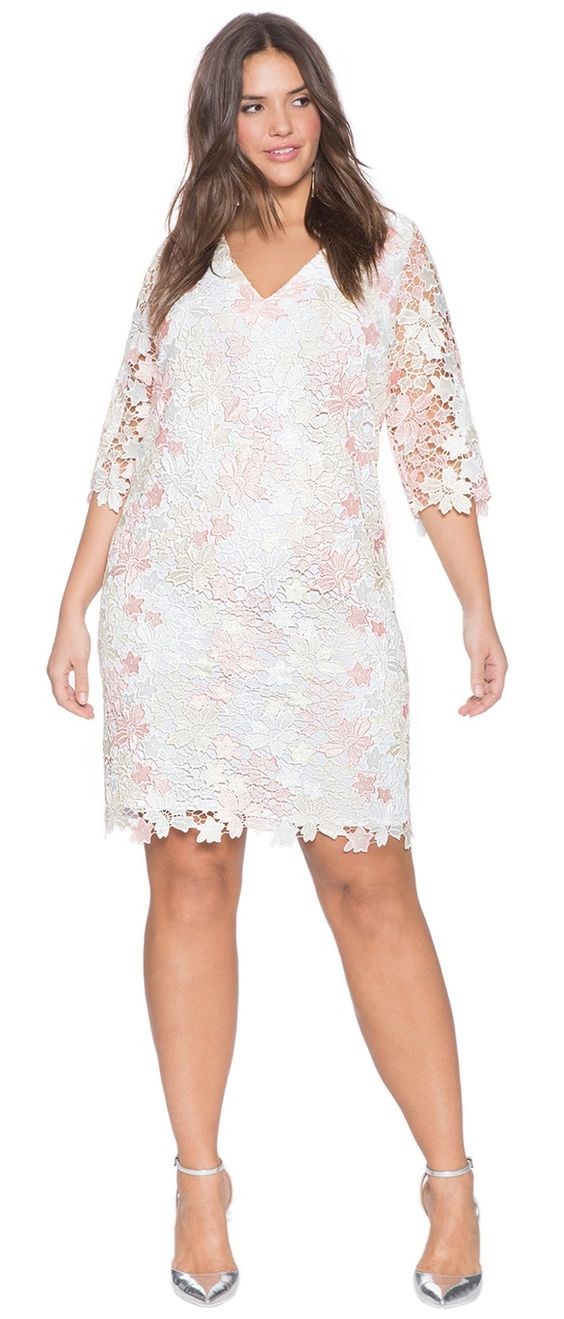 Plus Size Lace Front Dress