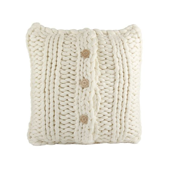 "Discover the UGG® Oversized Knit Cushion Cover 20"" - Natural at Amara"