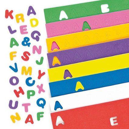 Lot de 600 Lettres Majuscules de l'Alphabet en Mousse Autocollante - Idéal pour la création de cartes