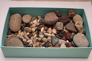 Rock Sensory Box from The Adventures of Bear