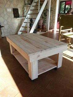 STORE :: Moveable pallet table as a workspace / display table