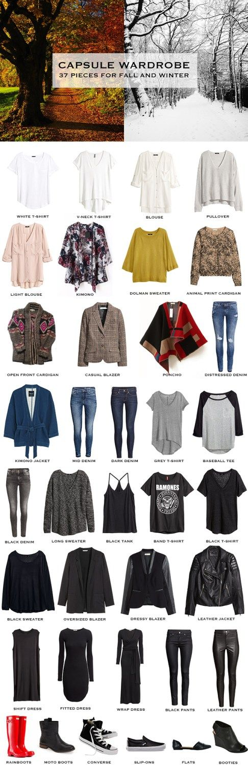 Fall / Winter Capsule Wardrobe: