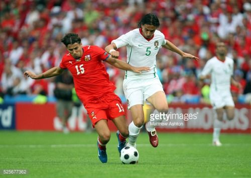 Milan Baros of Czech Republic and Fernando Meira of... #meira: Milan Baros of Czech Republic and Fernando Meira of Portugal…… #meira