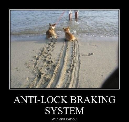 anti-lock breaking system -- with and without