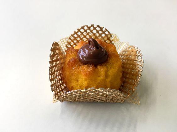 Mini bolinho cenoura com nutella