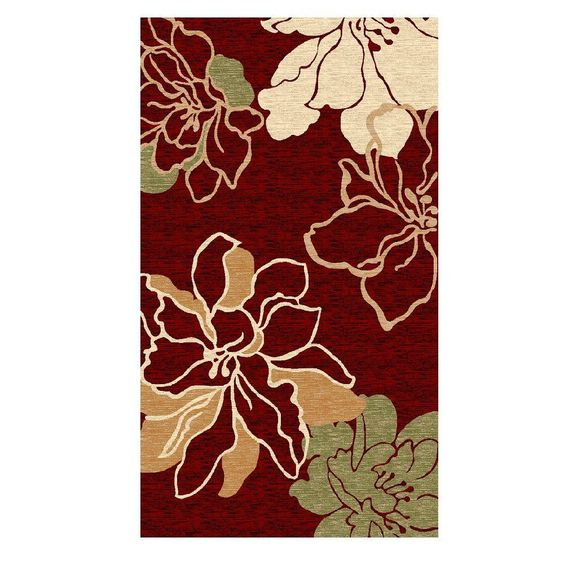 Milan Collection Red and Ivory 8 ft. x 10 ft. 3 in. Indoor Area Rug, Primary: Red/Secondary: Ivory