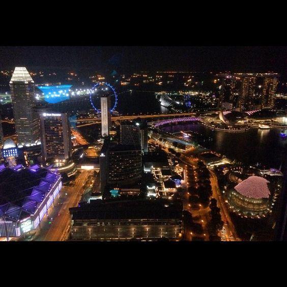 Marina Bay Sands night view from Stamford, Raffles City, Singapore