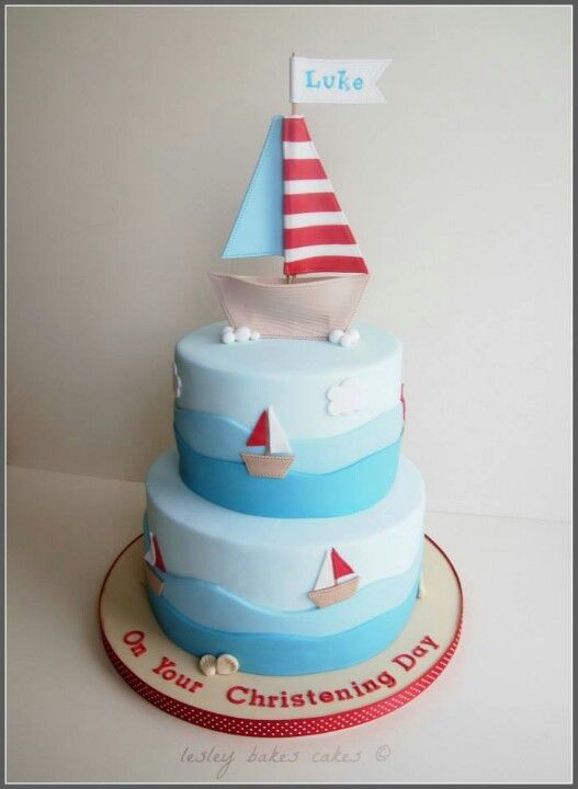 Boat cake, 3rd birthday and Birthday ideas on Pinterest