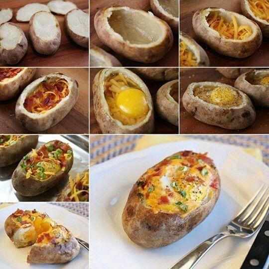 Baked egg in a basket