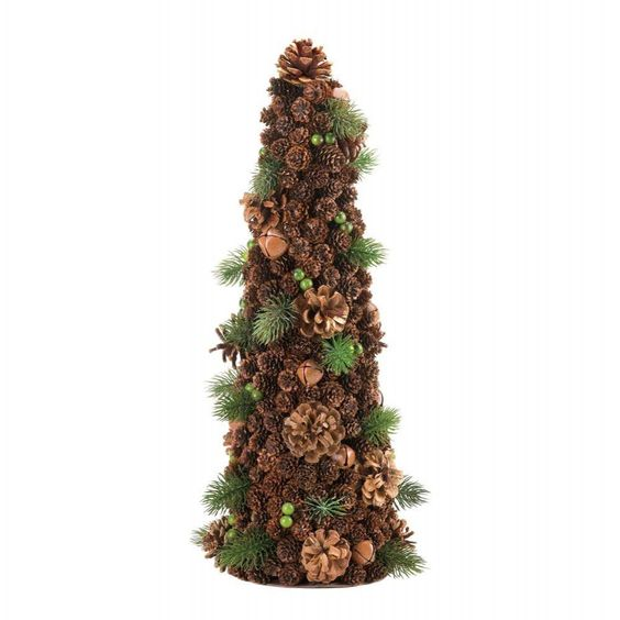 large pine cone holiday tree decor christmas decorations ForPine Cone Tree Decorations
