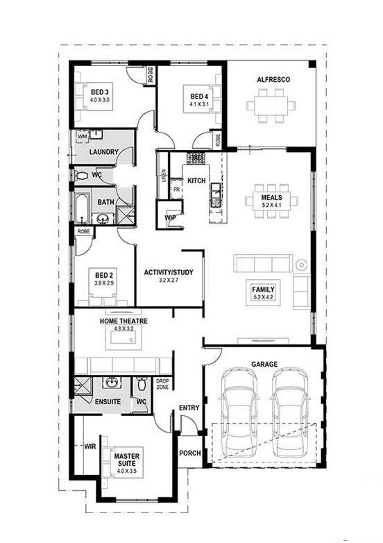 My Venice Home Designs Perth Single Storey Home Design Two Storey House Designs Perth House Floor Plans House Plans 4 Bedroom House Plans