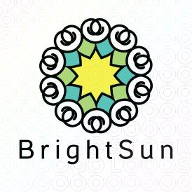 Exclusive Customizable Sun Logo For Sale: Bright Sun | StockLogos.com