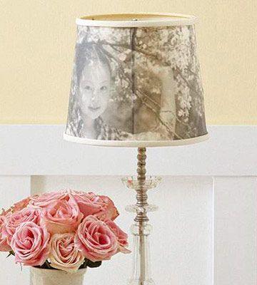 Photo transfer onto lampshade