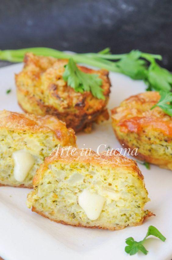 Tortine di broccoli e parmigiano con patate al forno vickyart arte in cucina
