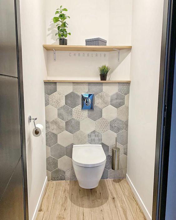 42 Idees Deco Pour Relooker Vos Toilettes Deco Toilettes Amenagement Toilettes Decoration Toilettes