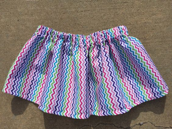 Multi-colored Chevron skirt by Fun1Fancy on Etsy