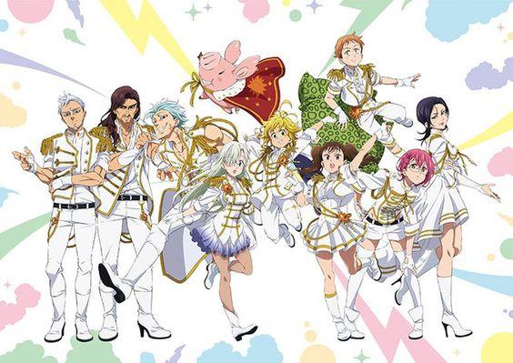 七つの大罪全員白い衣装で明るい壁紙