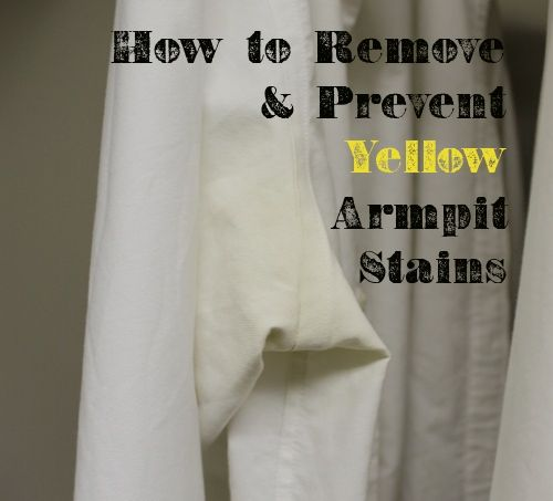 Stains remove armpit stains and how to get rid on pinterest for Removing armpit stains from colored shirts