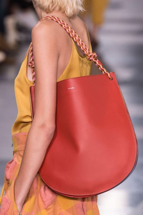 Paul Smith red big shopper with wreathed shoulder strap