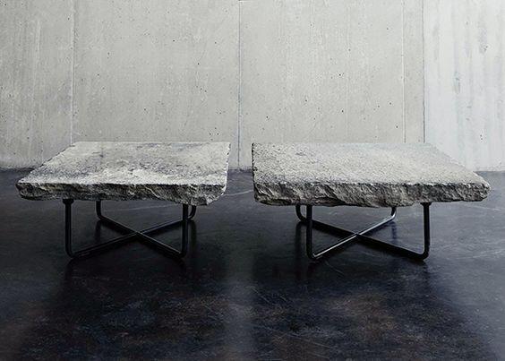 Montauk Sofa   Granite Table
