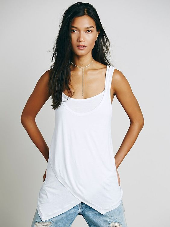 New Free People We The Free Maui White Strappy Tank Top Y Back Shirt Small Nwot #FreePeople #TankCami