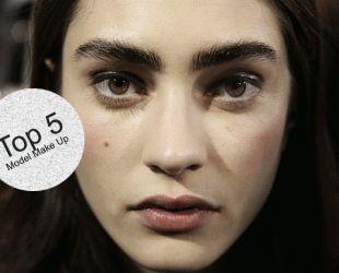 Marine Deleeuw #model #make-up #natural #look
