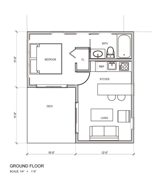L Shaped House Small House Plans Tiny House Plans Small Tiny House