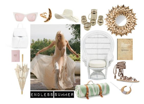 """Monday Moods: Midsummer Magic"" by mrkatedotcom ❤ liked on Polyvore featuring interior, interiors, interior design, home, home decor, interior decorating, Mansur Gavriel, Free People, Safavieh and Maslin & Co."