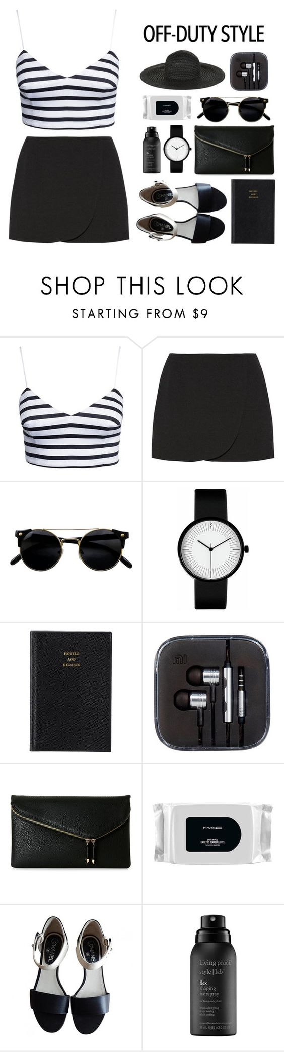 """""""Untitled #137"""" by imelda-marcella-chandra ❤ liked on Polyvore featuring New Look, Jill Stuart, Prada, Urban Expressions, MAC Cosmetics, Chanel, Living Proof, Monsoon, black and blackandwhite"""