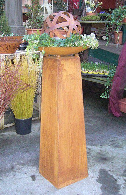 Schale säule holz mit Pflanzensäulen günstig
