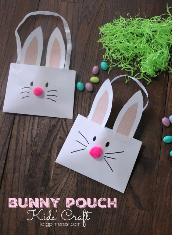 bunny pouch kids' craft2